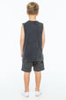 TOO MANY RULES TANK TOP CHARCOAL - Zuttion