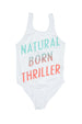 NATURAL BORN THRILLER SWIMWEAR WHITE - Zuttion
