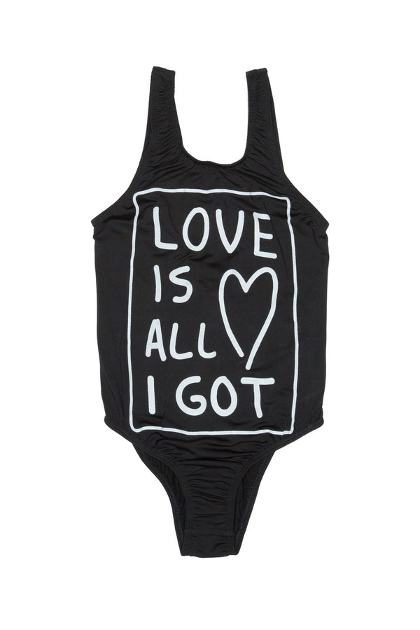 LOVE IS ALL I GOT SWIMWEAR BLACK - Zuttion
