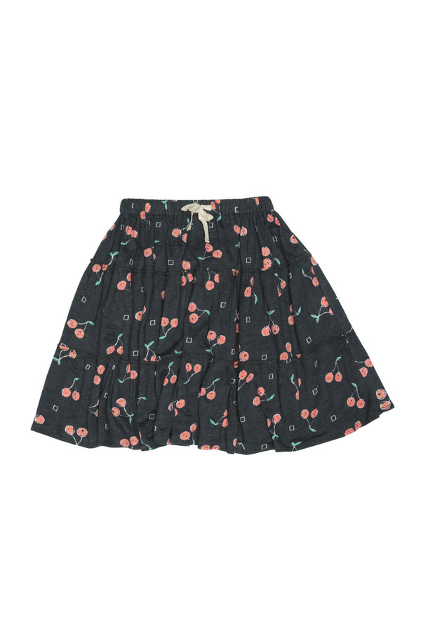 CHERRY FRANKIE SKIRT CHARCOAL - Zuttion