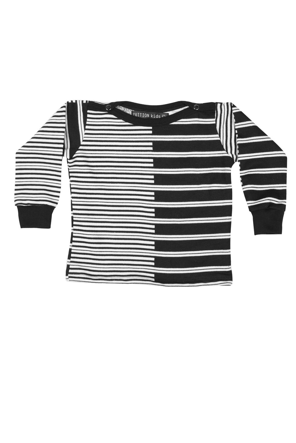 2 Stripes Baby Sweater White/Black - Zuttion