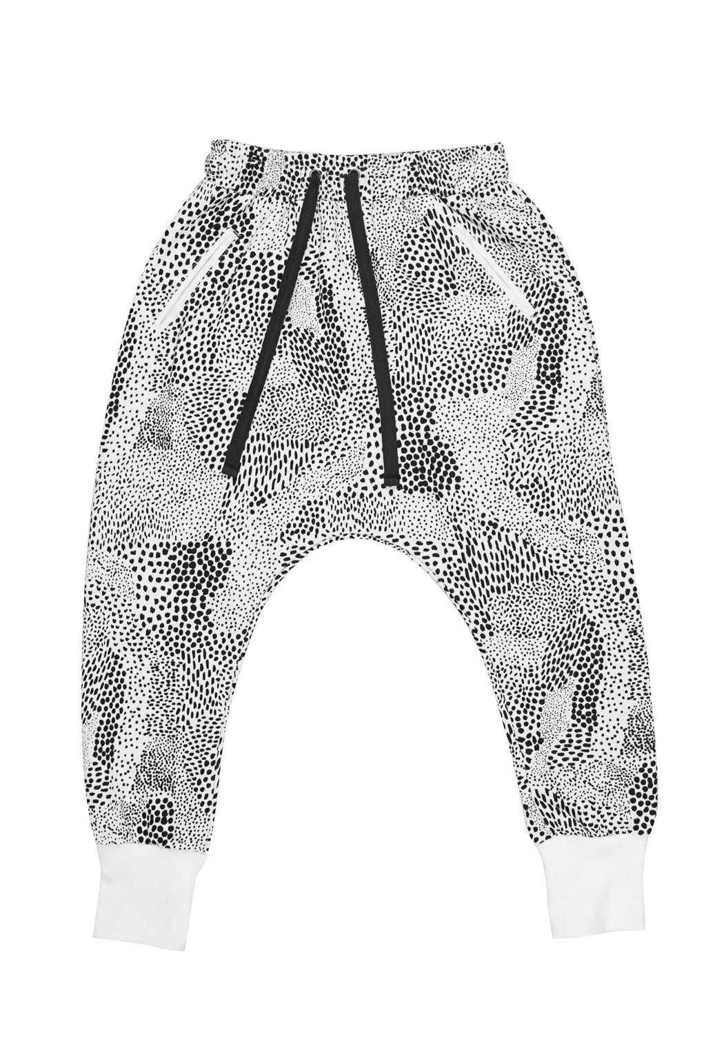 Abstract Low Crotch Trackie Black/White - Zuttion