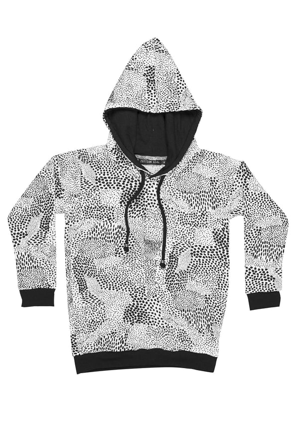 Abstract Sweater Hoodie White/Black - Zuttion