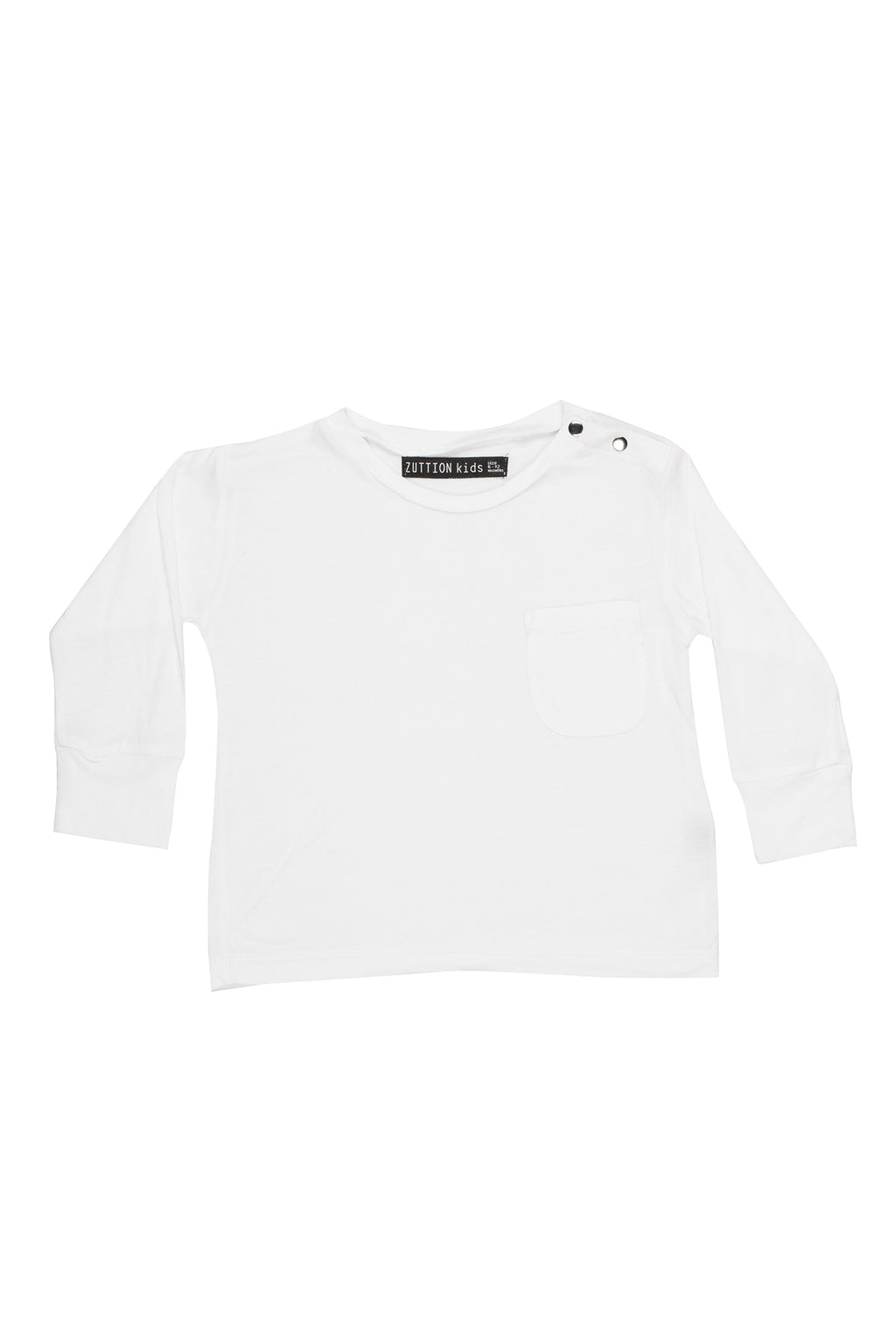 Baby Long Sleeve Tee White - Zuttion
