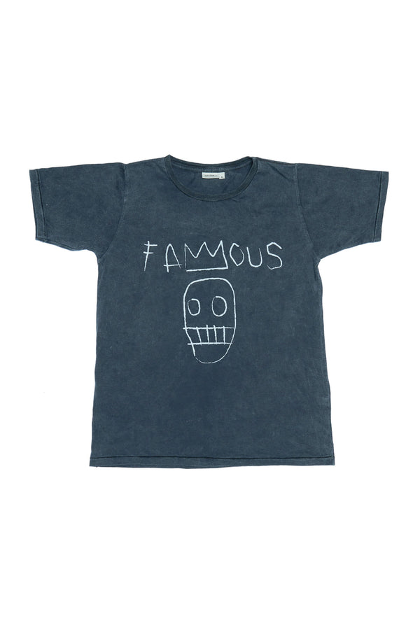 FAMOUS S/S ROUND NECK T CHARCOAL
