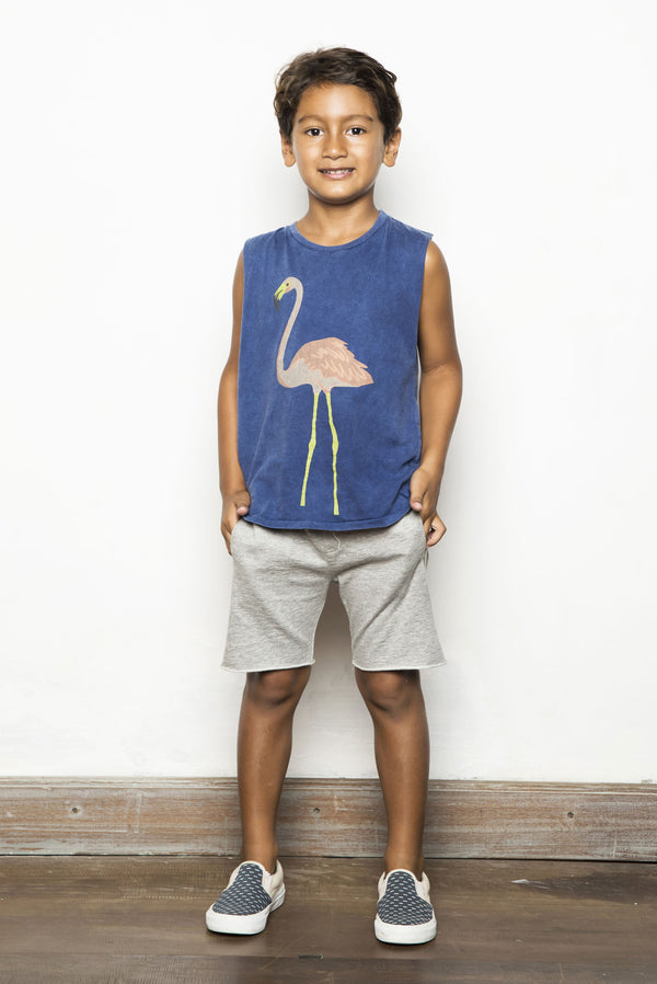FLAMINGO TANK TOP NAVY - Zuttion