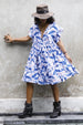 PIXIE BOO DRESS WHALE BLUE