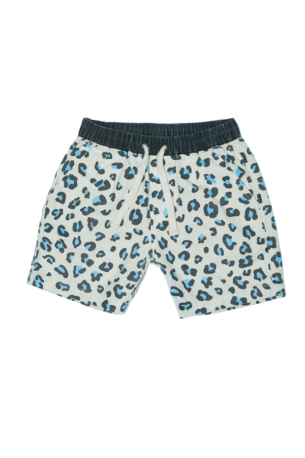 LEOPARD WALK SHORT WHITE/BLUE