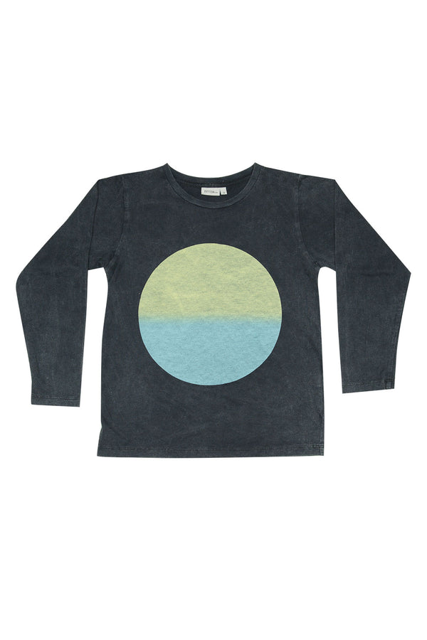 CIRLE GRADATION L/S TEE CHARCOAL