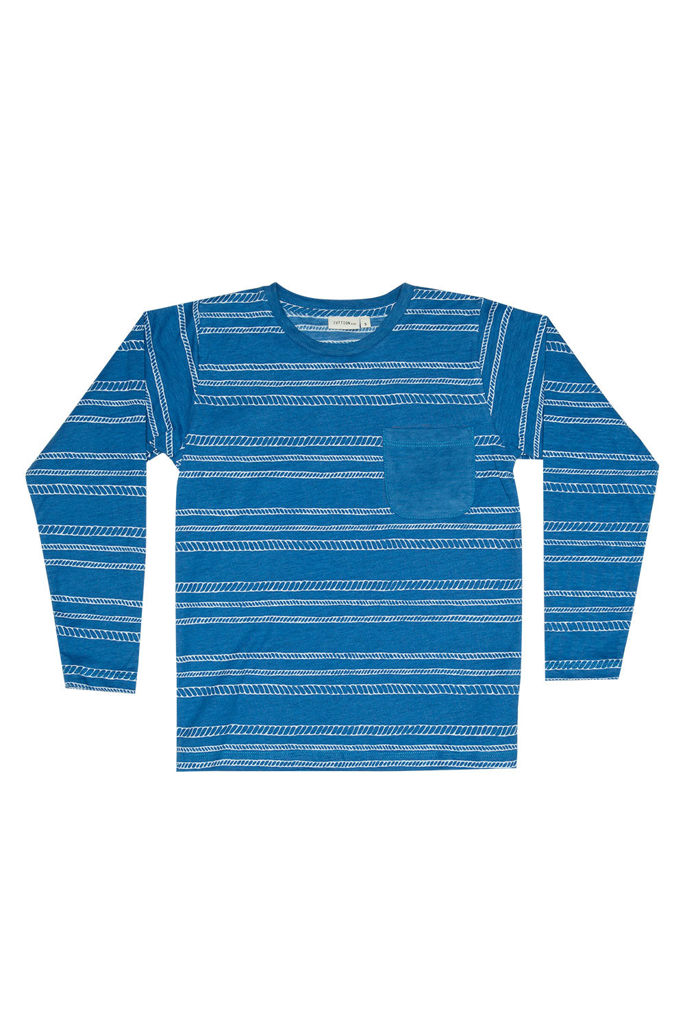 ROPE STRIPE L/S TEE NAVY