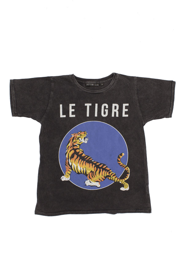 Le Tigre Short Sleeve Tee Charcoal - Zuttion