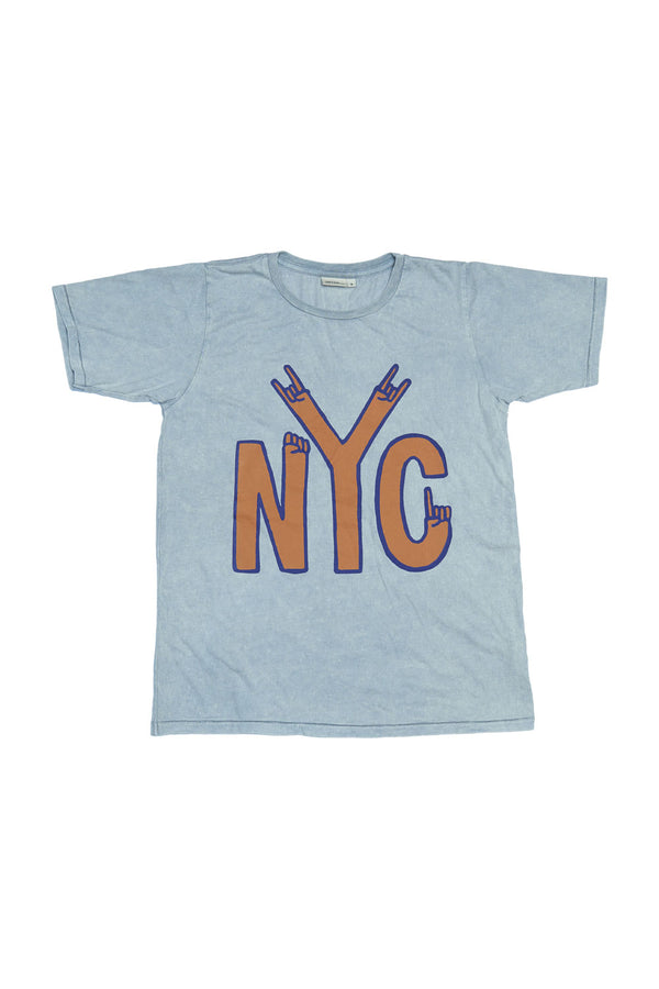 NYC S/S ROUND NECK T GREY