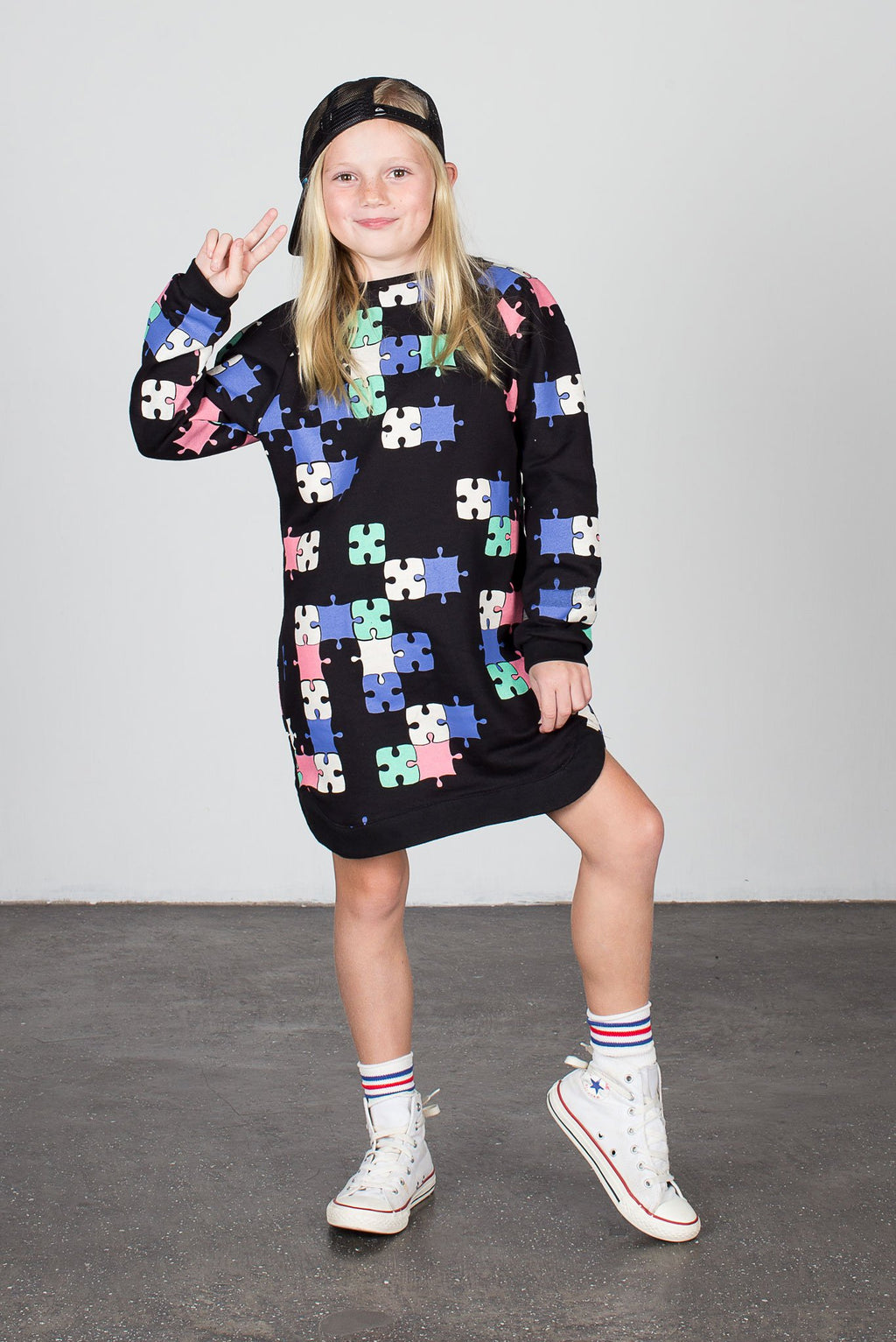 Puzzle Stevie Sweater Dress - Zuttion
