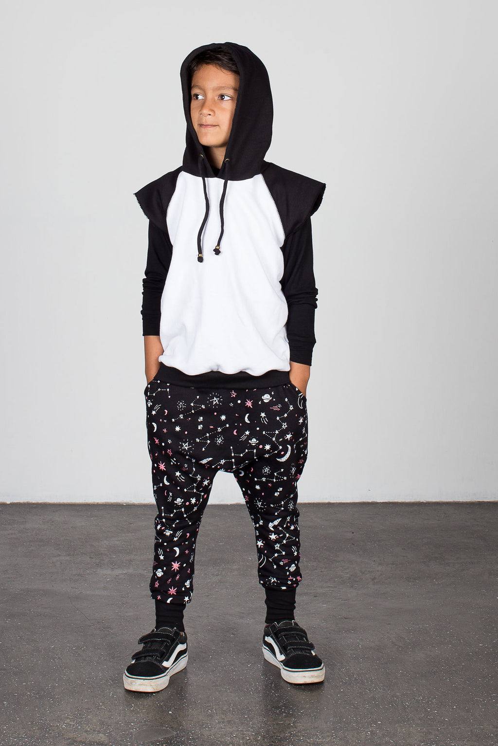 Galaxy Low Crotch Trackie Black - Zuttion