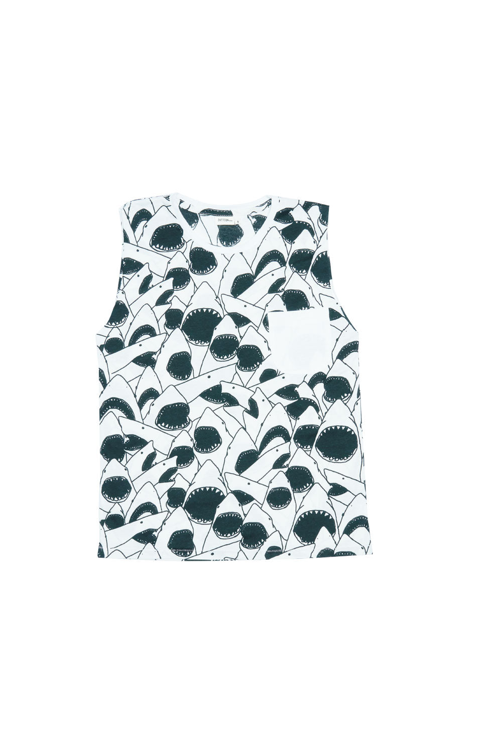 SHARK TANK TOP WHITE