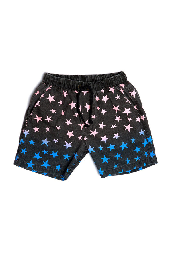 STAR GRADIENT BOAT SHORT BLACK - Zuttion