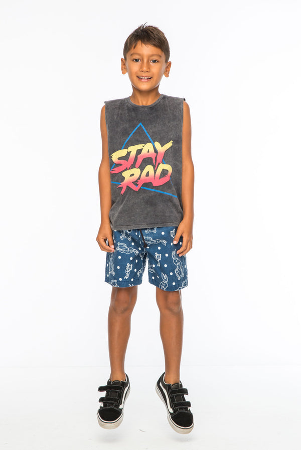 STAY RAD TANK TOP CHARCOAL - Zuttion