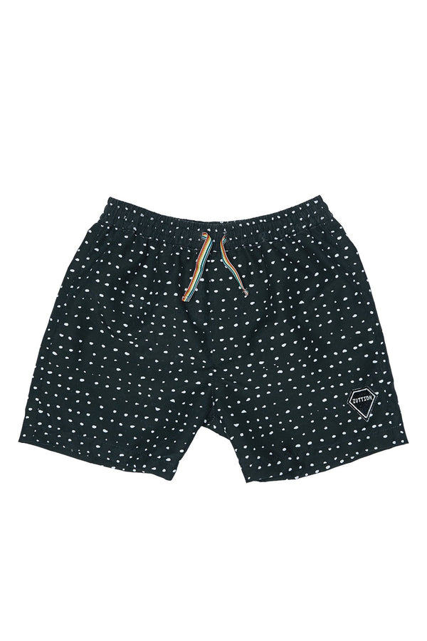 RANDOM DOT BOARD SHORT BLACK
