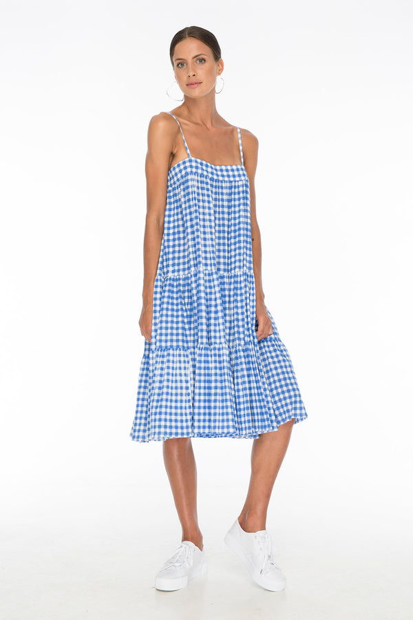 TSO-Dolly Jones Blue Gingham Dress - Zuttion