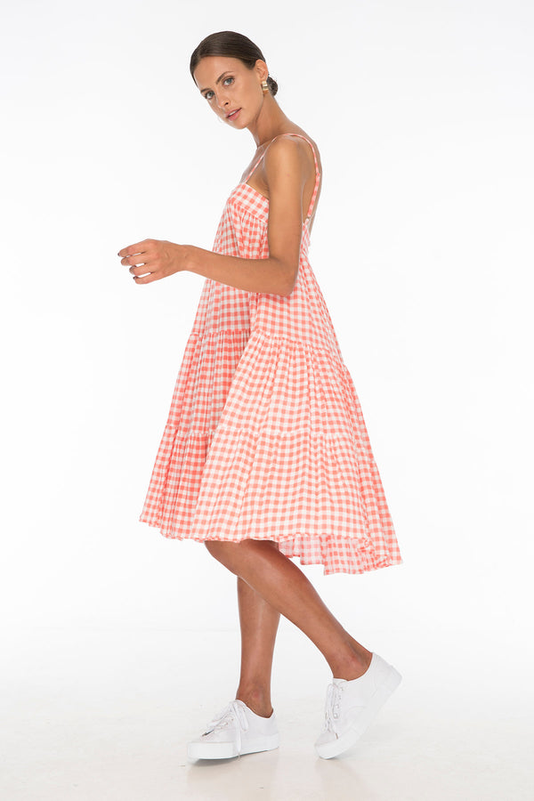 TSO-Dolly Jones Red Gingham Dress - Zuttion