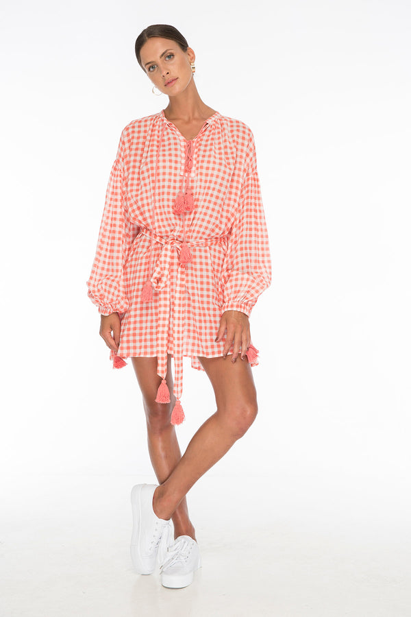 TSO-Rebecca Gingham Red Day Dress - Zuttion
