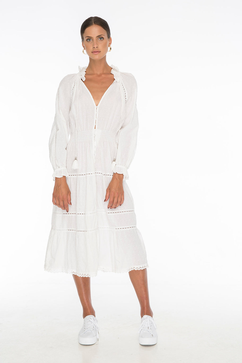 TSO-Victoria Morris White Dress - Zuttion