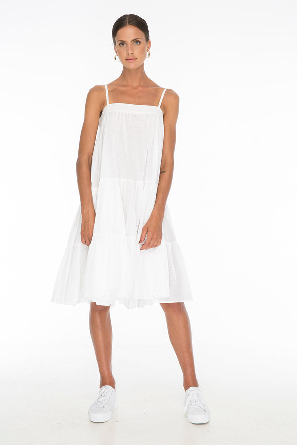 TSO-Dolly Jones White Dress - Zuttion