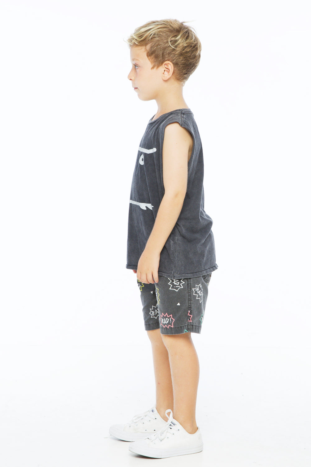 RAD BOAT SHORT CHARCOAL - Zuttion