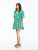 NAOMI SMITH DRESS FOX EMERALD