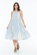 LARA DRESS VOGUE STRIPE BUTTER