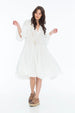 JENNA HIPP DRESS EYELET WHITE