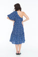 ELOISE DRESS POLKA INDIGO