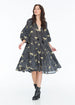 JENNA HIPP DRESS LEOPARD DIAMOND NOIR