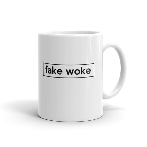 Buy Black - Fake Woke Mug - Buy Noir