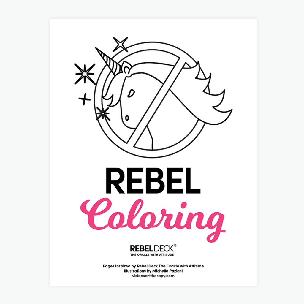 *** Another Round of FREE during COVID - REBEL Coloring - Adult Coloring for REBELS-Digital Download