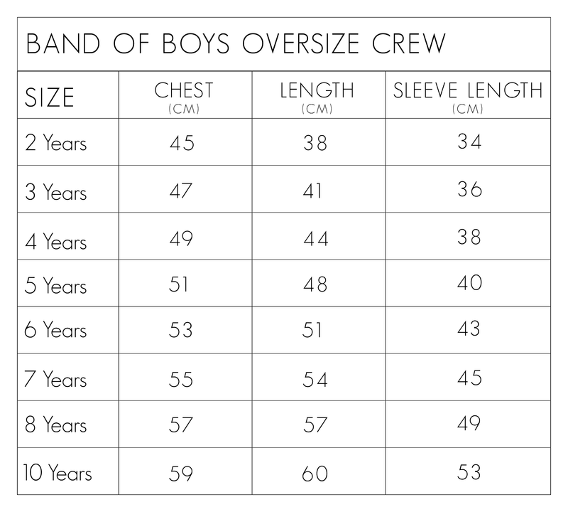 Peace Man Oversize Crew - Threads for Boys