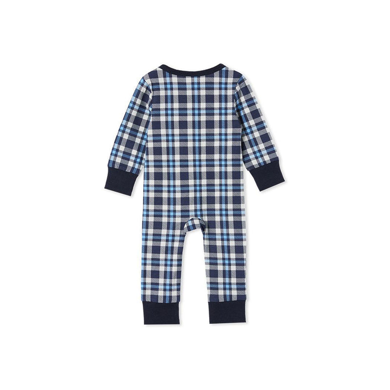 Milky Check Sleep Romper