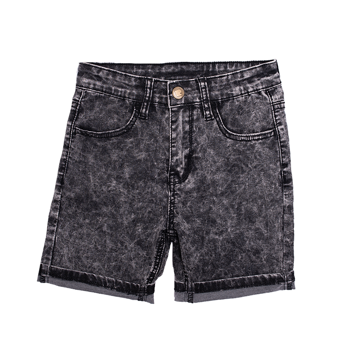 Rock Your Baby Black Wash Denim Shorts - Threads for Boys
