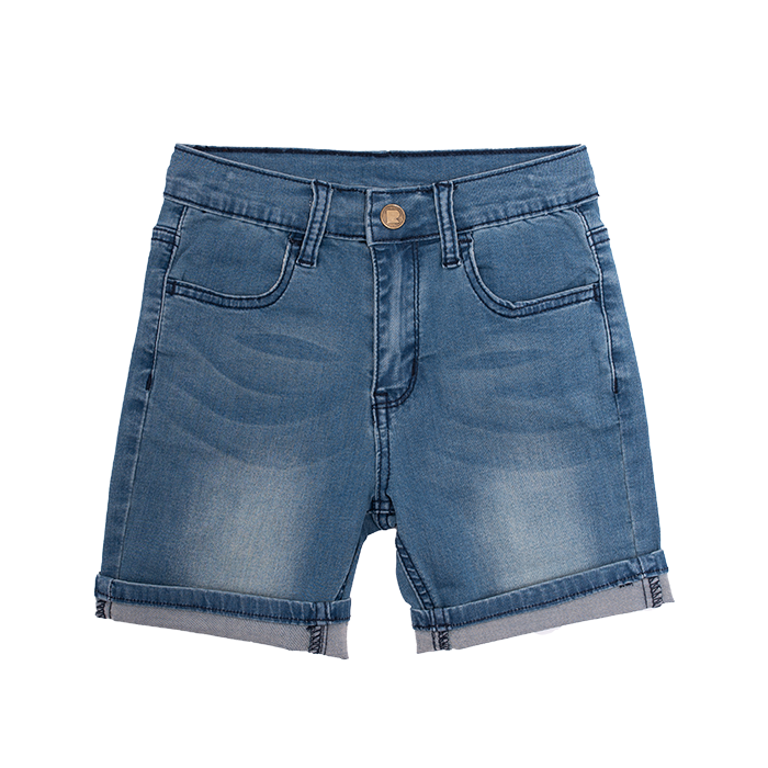 Rock Your Baby Blue Wash Denim Shorts - Threads for Boys