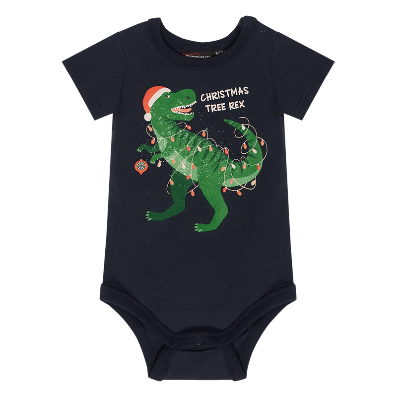 Rock your Baby Christmas Tree Rex Bodysuit