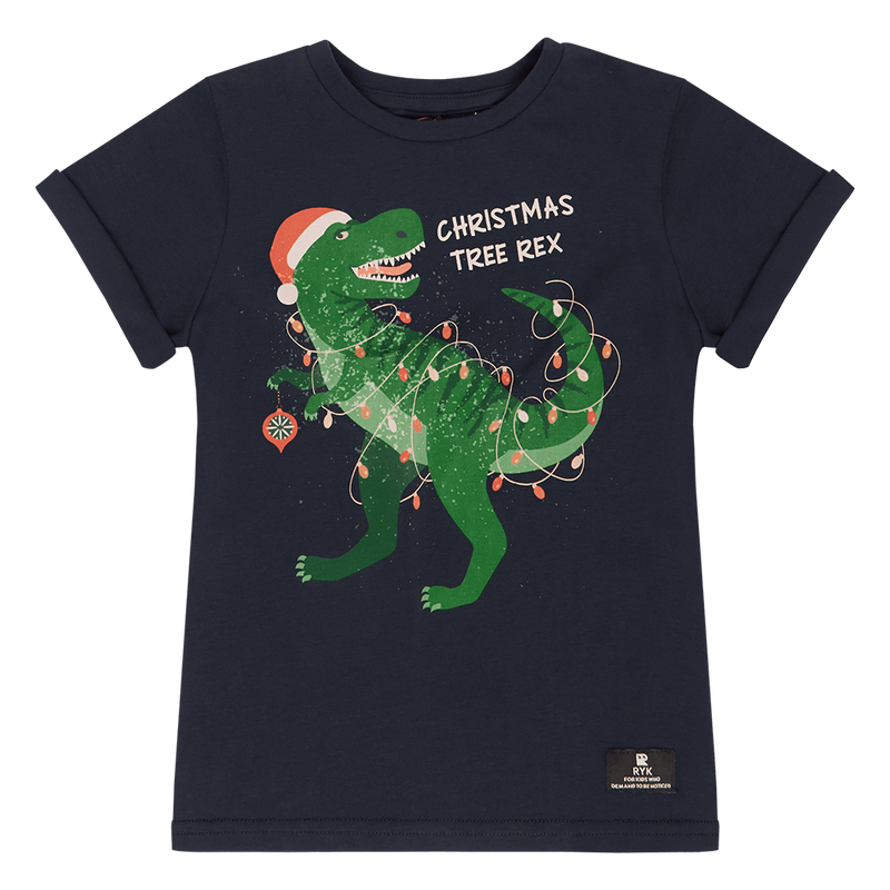 Rock your Baby Christmas Tree Rex T-Shirt