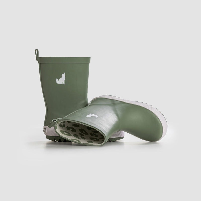 Crywolf Rainboots Sage - Threads for Boys