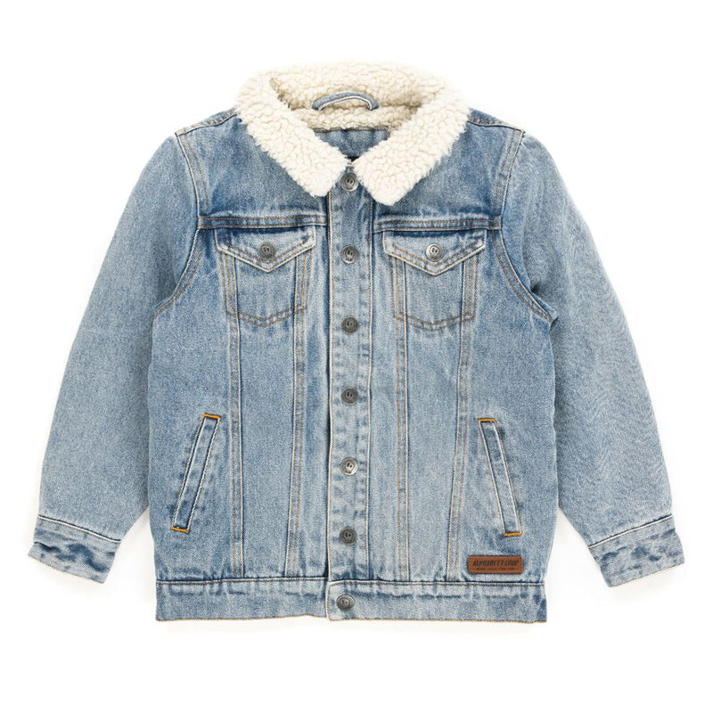 Alphabet Soup Denim Sherpa Jacket