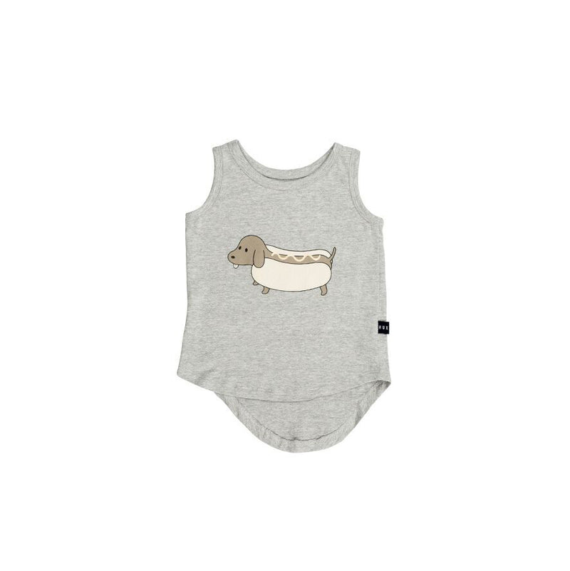 Huxbaby Hot Doggy Singlet - Threads for Boys