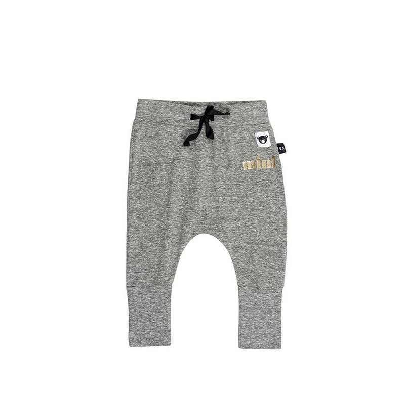 Huxbaby Charcoal High Cuff Pant - Threads for Boys