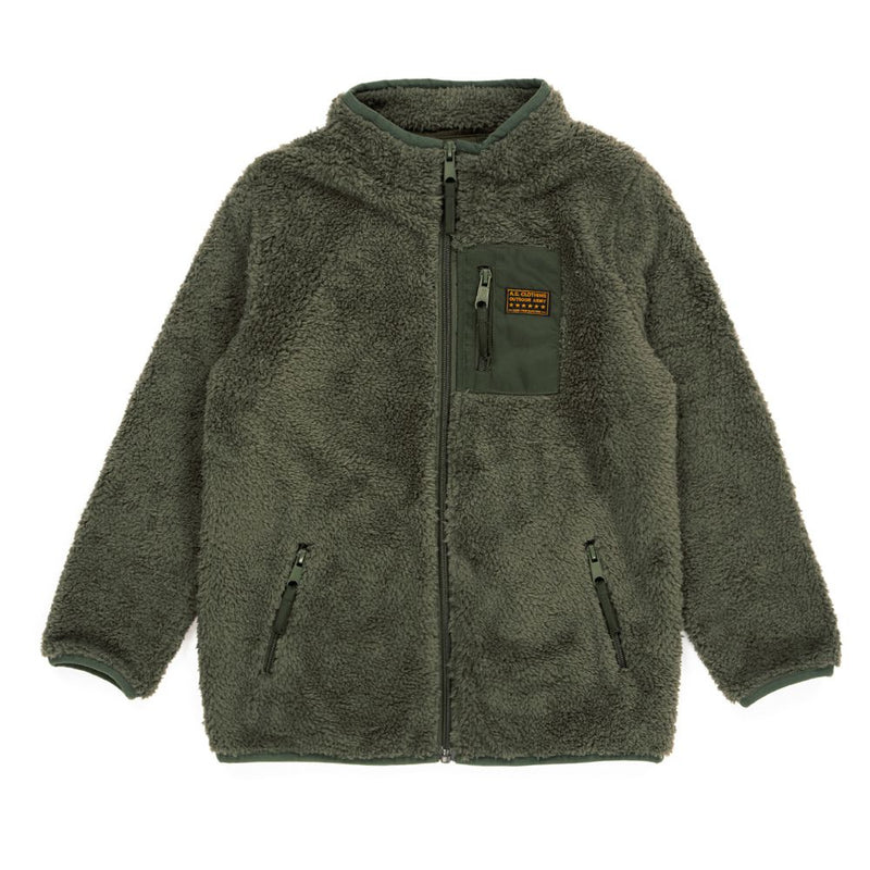 Alphabet Soup Sherpa Jacket