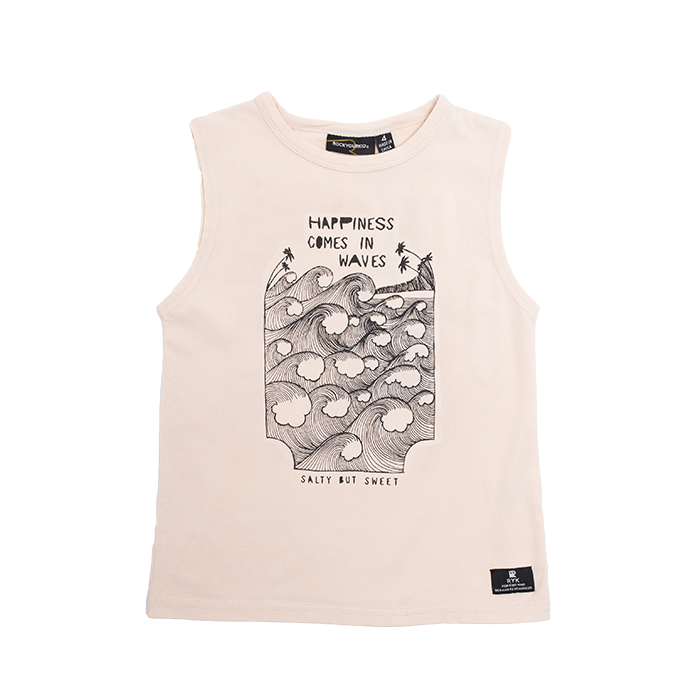 PRE-ORDER Rock Your Baby Happiness Singlet - Threads for Boys