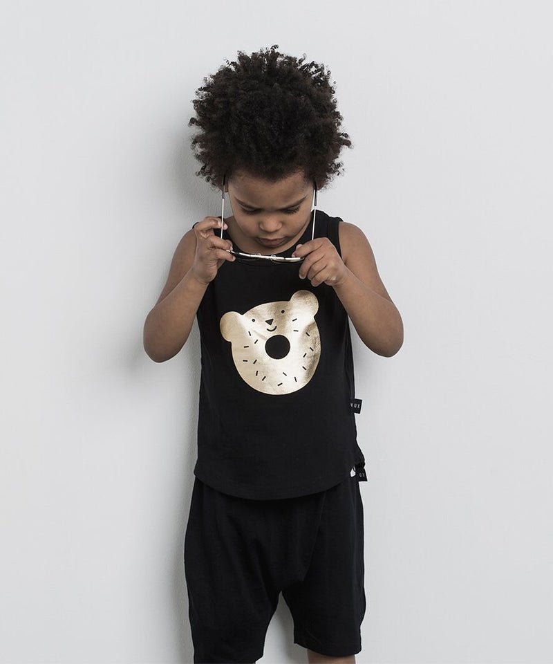 Huxbaby Dough Bear Singlet - Threads for Boys