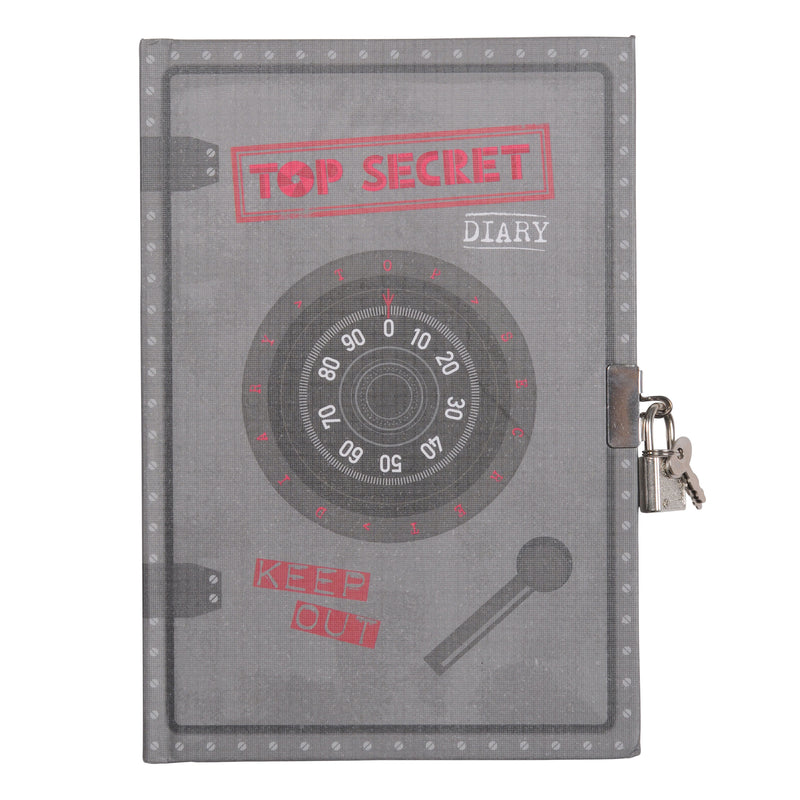 Tiger Tribe Lockable Diary - Top Secret - Threads for Boys