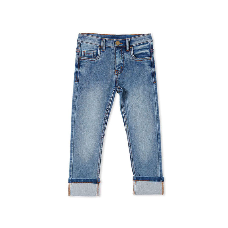 Milky Mid Wash Denim Jean